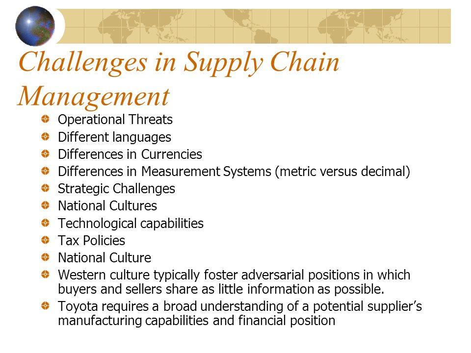 supply chain management case study of toyota Supply chain management supply chain management search search  supply chain management of honda & toyota  case studies in information technology : toyota .