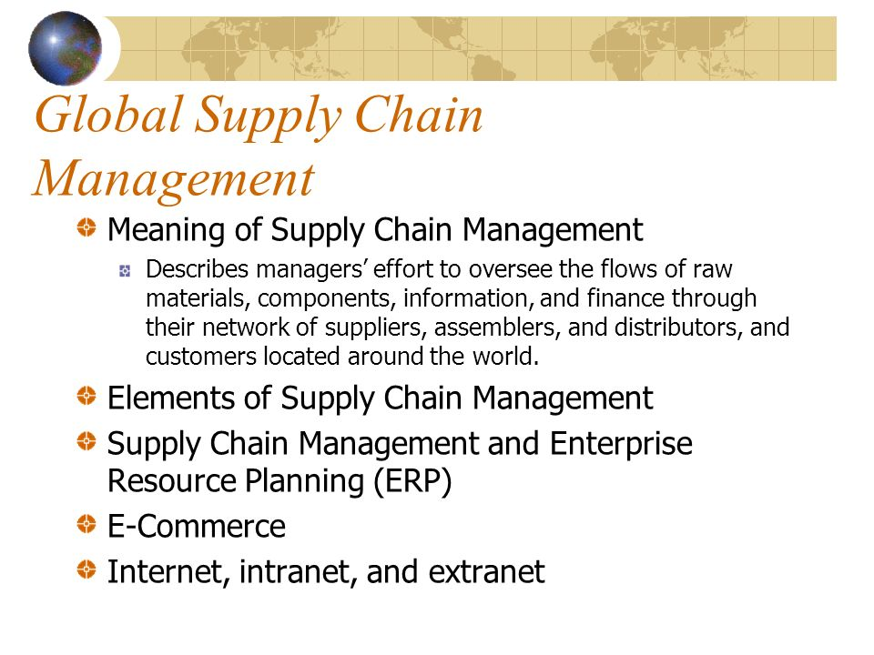managing the global supply chain report A report by transparency market research found that the global supply chain management solutions market is expected to reach $32,9082 mn by 2026 due to growth in supply chain management solutions according to the report, the market will expand at a cagr 112 percent within the next eight years.