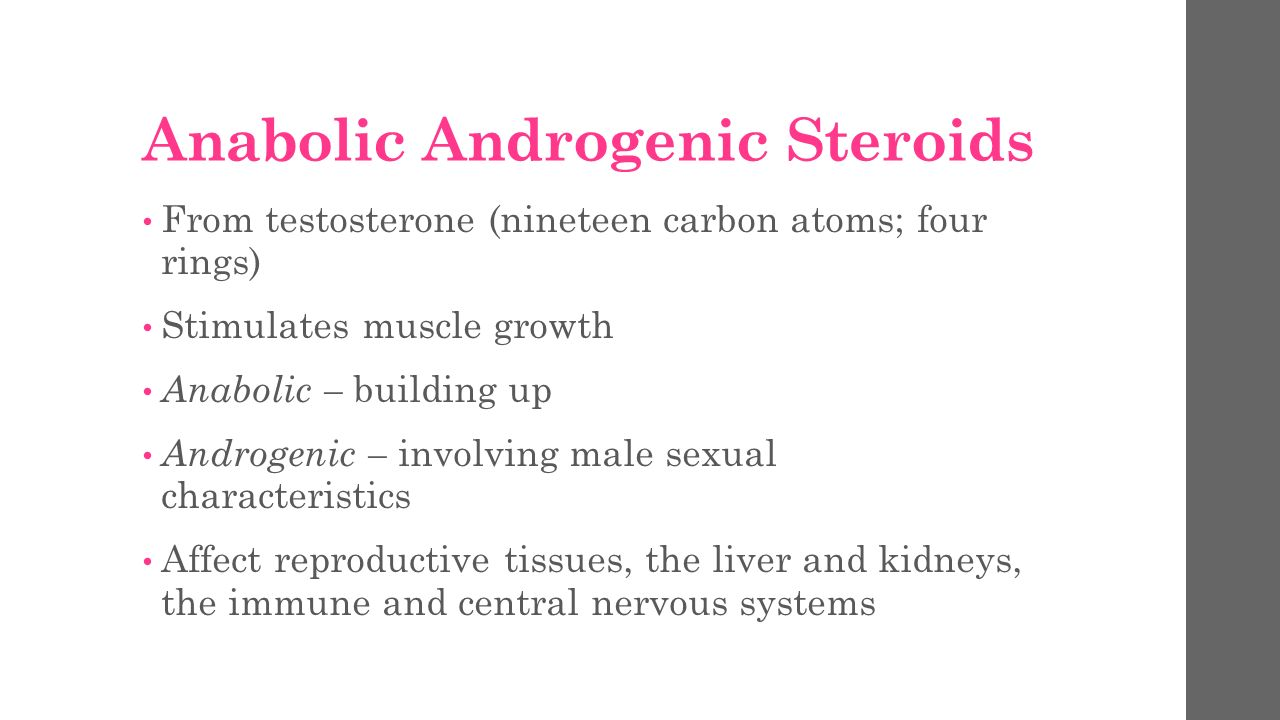 characteristics of anabolic steroids What are anabolic steroids muscle and body protein metabolism at dose levels which tend not to increase other secondary sexual characteristics anabolic steroid use by males and females may lead to health conditions ranging from mild, to life.