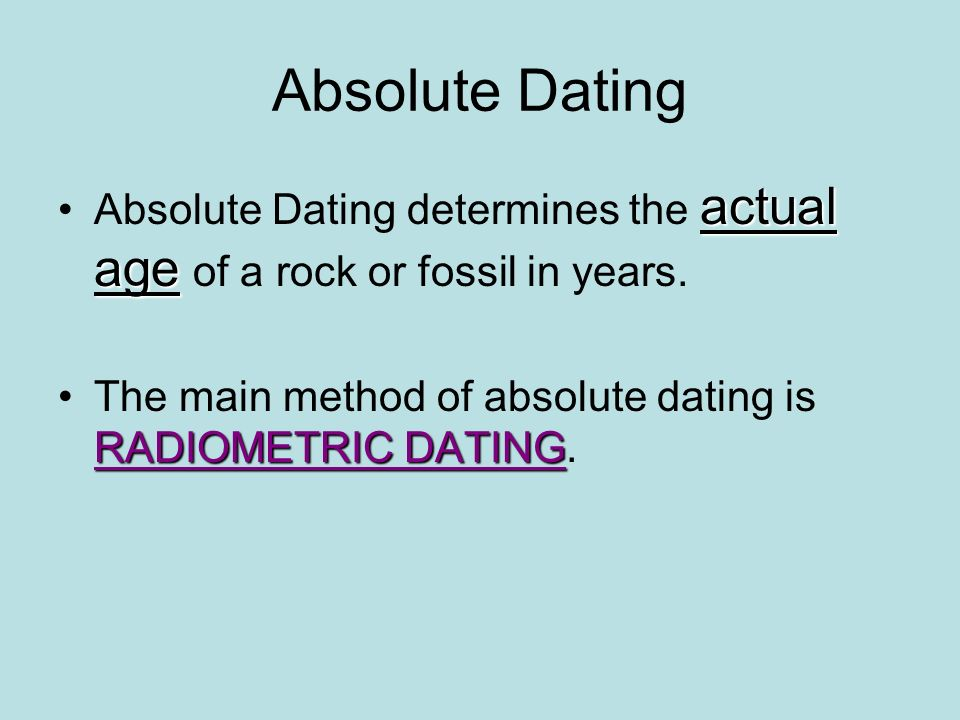 Compare and contrast relative dating and absolute dating
