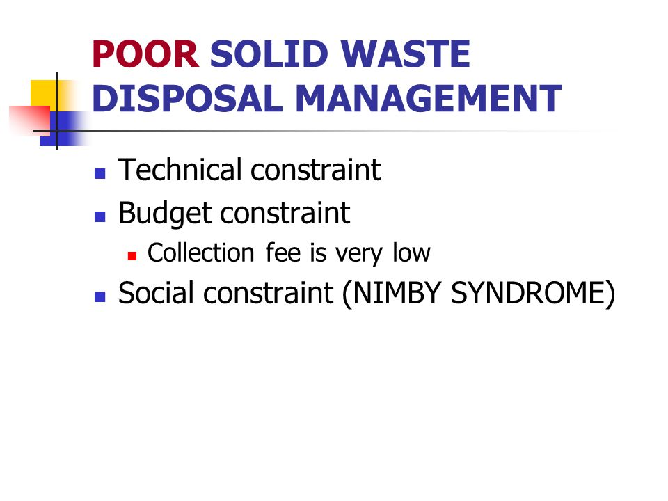 community participation in solid waste management Social assessment and public participation in municipal solid waste management - toolkit (english) abstract this toolkit provides guidance to central, municipal, and private sector agencies in conducting an social assessment (sa) and ensuring appropriate levels of public participation in the planning and implementation of a municipal solid.