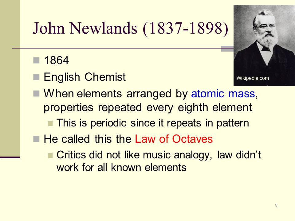 Periodic table periodic law ppt video online download 8 john urtaz Choice Image