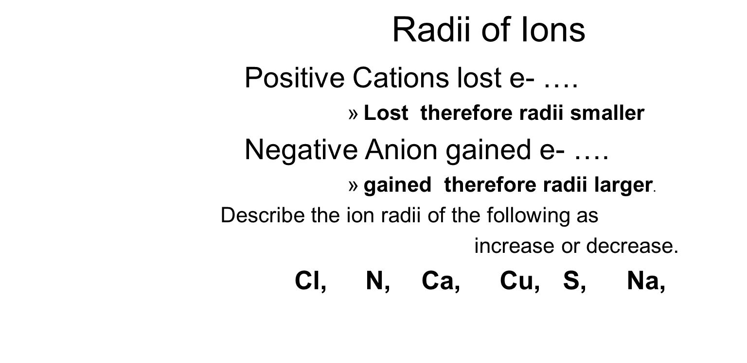 Student will learn 4 periodic trends atomic radii trend ppt 7 radii of ions gamestrikefo Images