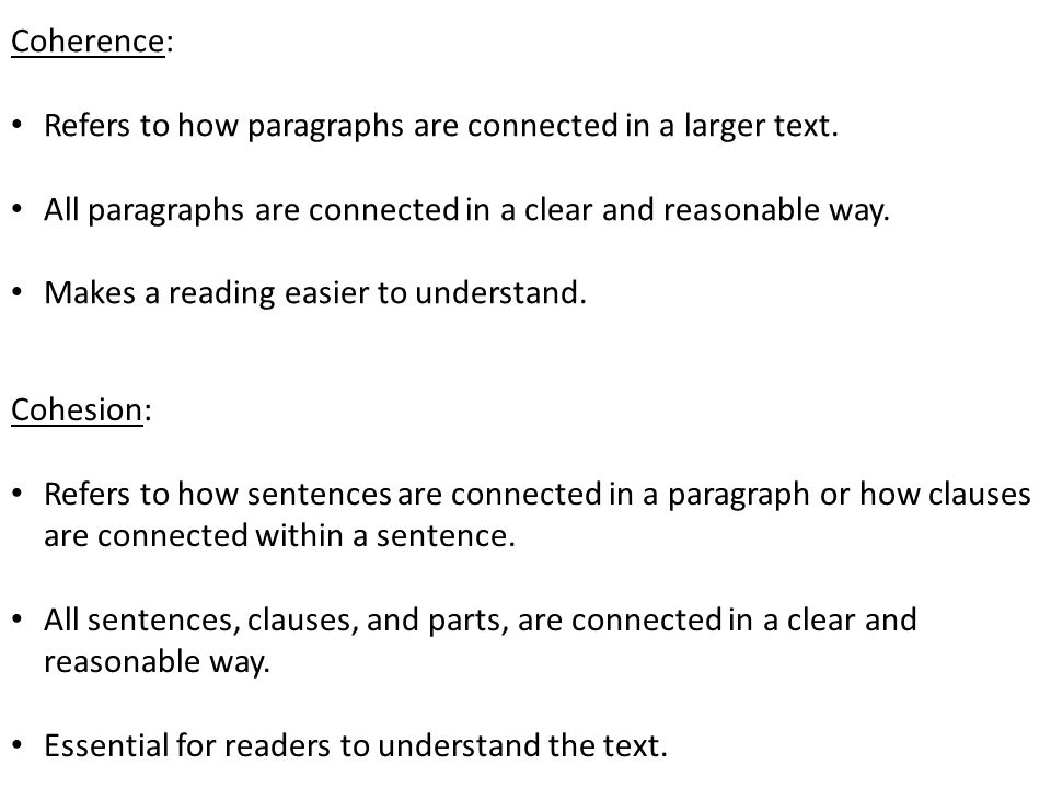 English essay coherence
