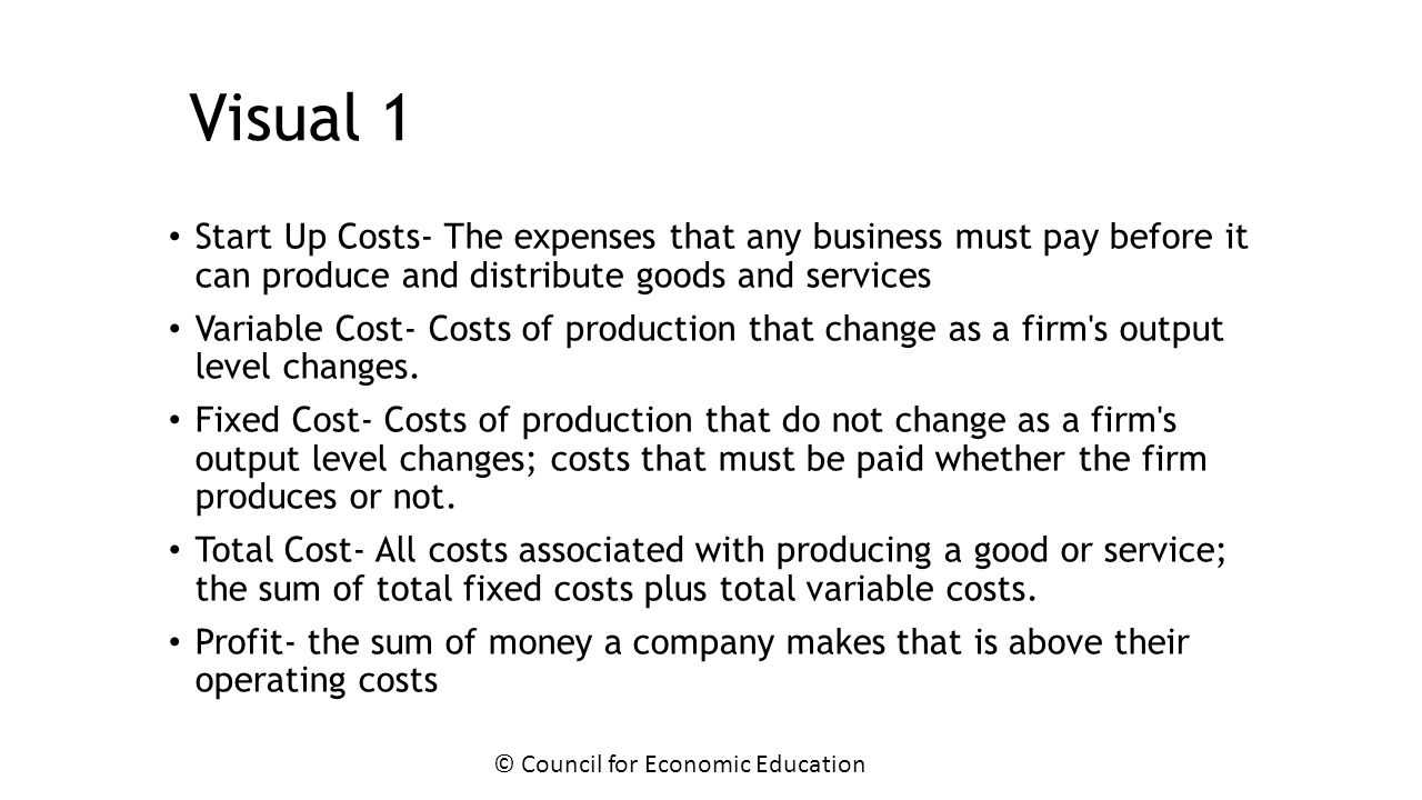 identify the difference between start up and operating costs variablecpsts and fixed costs essay Head start was in the making in 1964 identify the difference between start up and operating costs, variablecpsts and fixed costs essay.