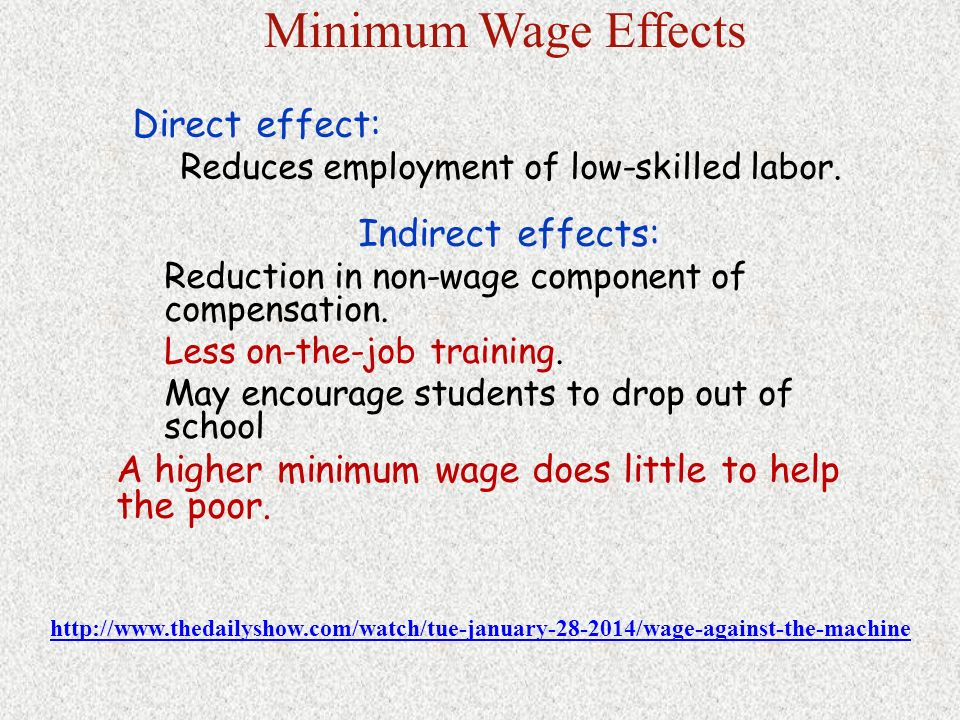 employment effects of the minimum wage Downloadable there is a huge body of empirical research on the employment  effect of the minimum wage that has failed to clearly demonstrate the negative.