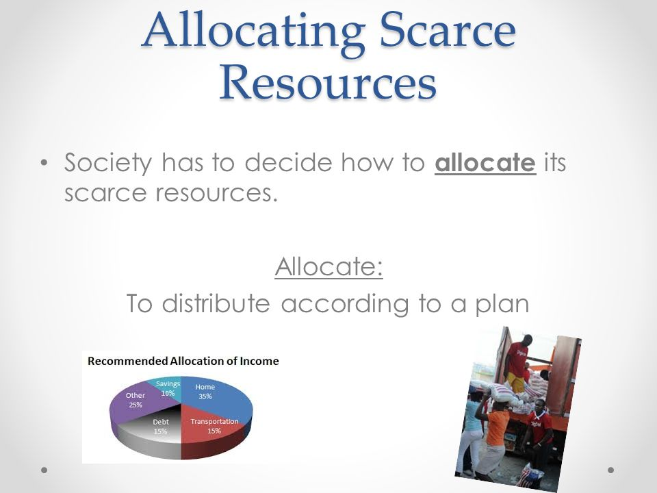 The Role of Markets in Allocating Societal Resources