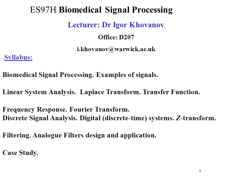 Biomedical Monitoring System : Es h biomedical signal processing ppt download