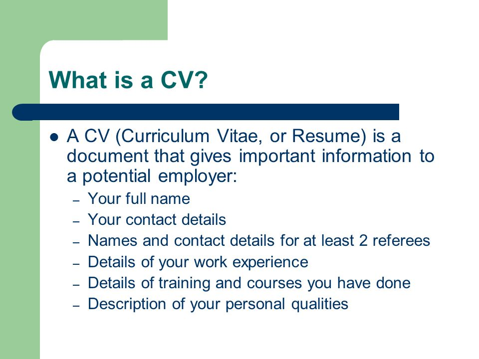 curriculum vitae  or resume  writing