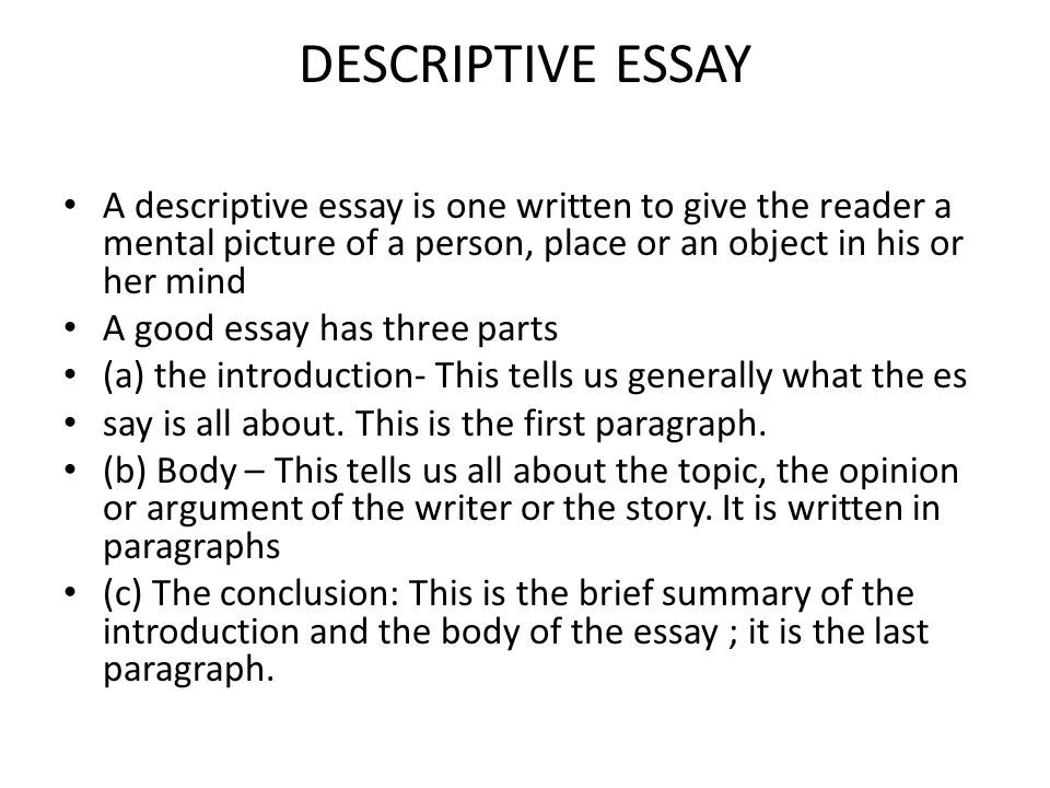 start descriptive essay object Our writers have the best descriptive essay ideas specially for you just visit our website and order your perfect essay.