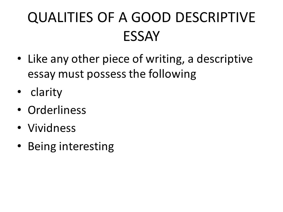 english language scheme of work for jss ppt video online  qualities of a good descriptive essay