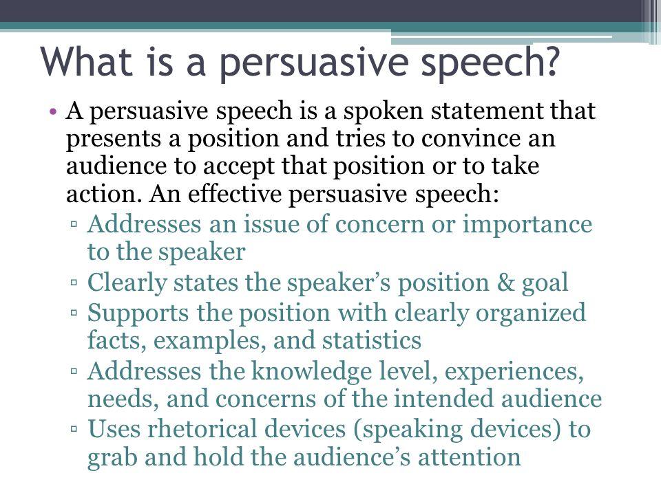 persuasive presentation definition