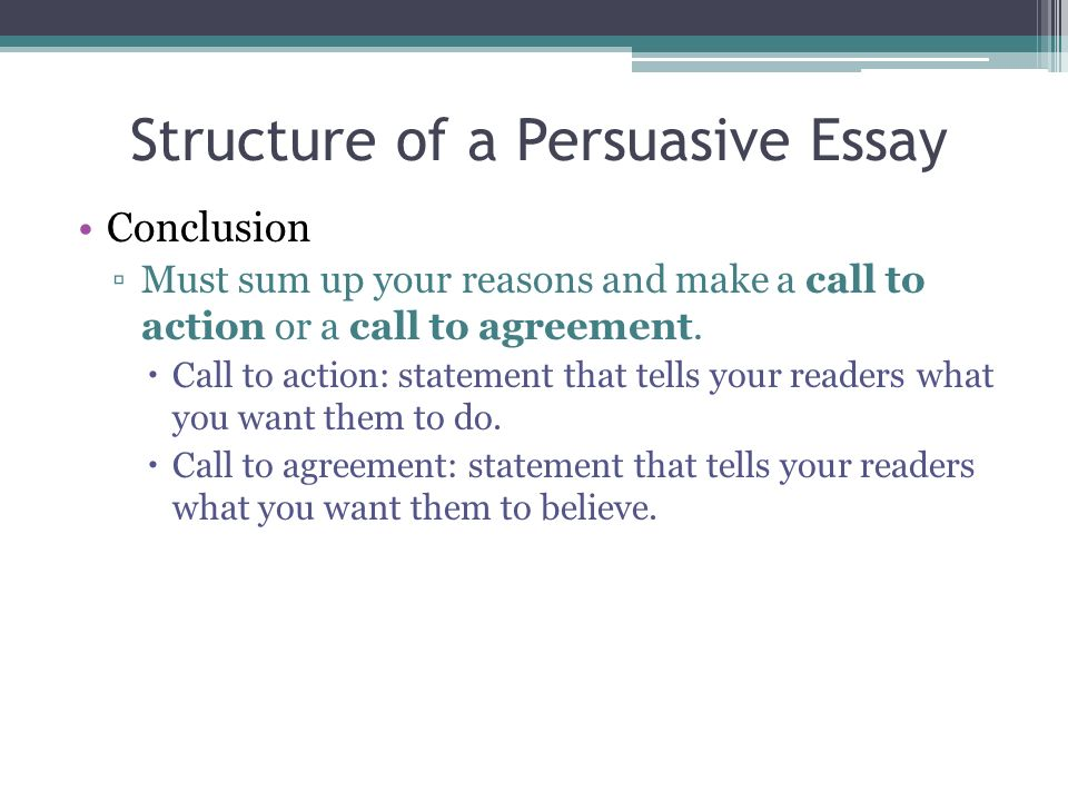 Call to action persuasive essay