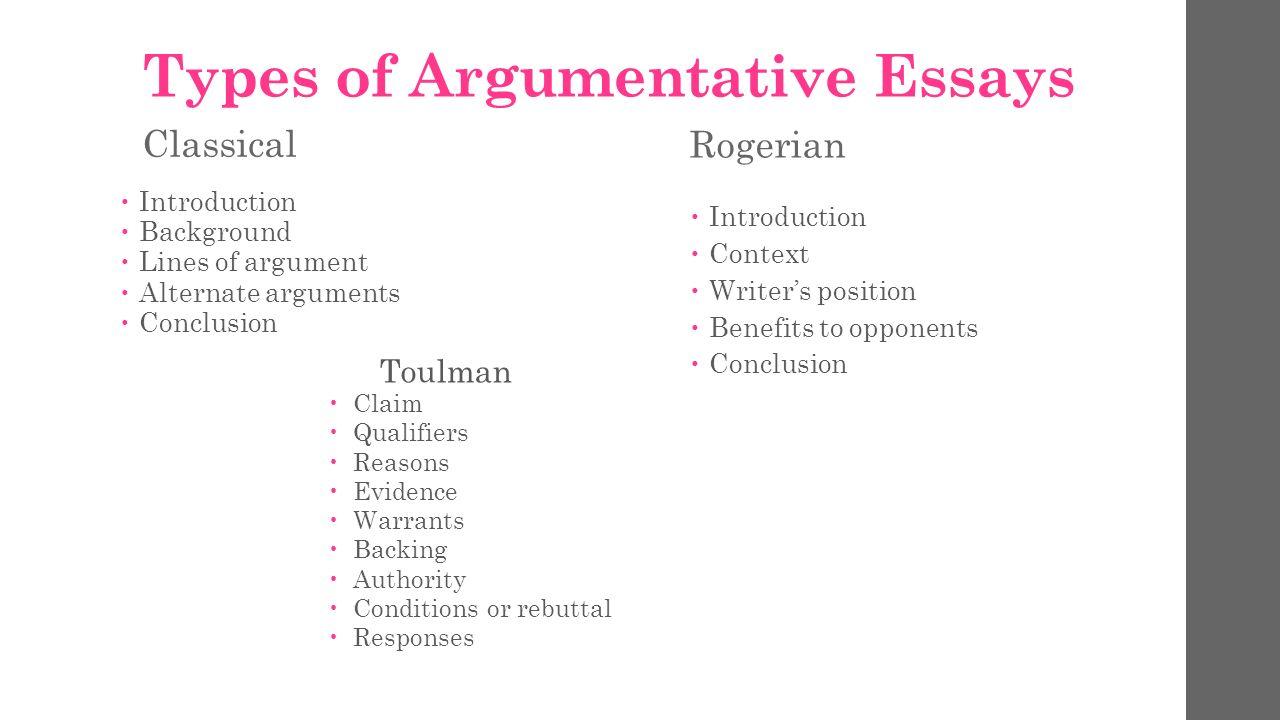 Types of argumentative essay endings