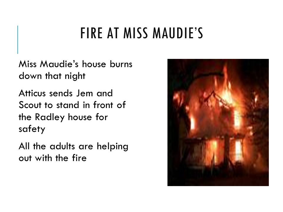 Maudie Atkinson House Fire