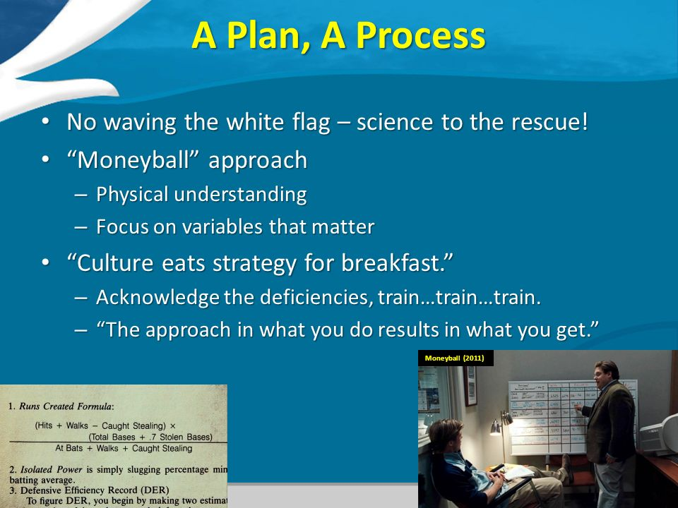 A Plan, A Process No waving the white flag – science to the rescue!