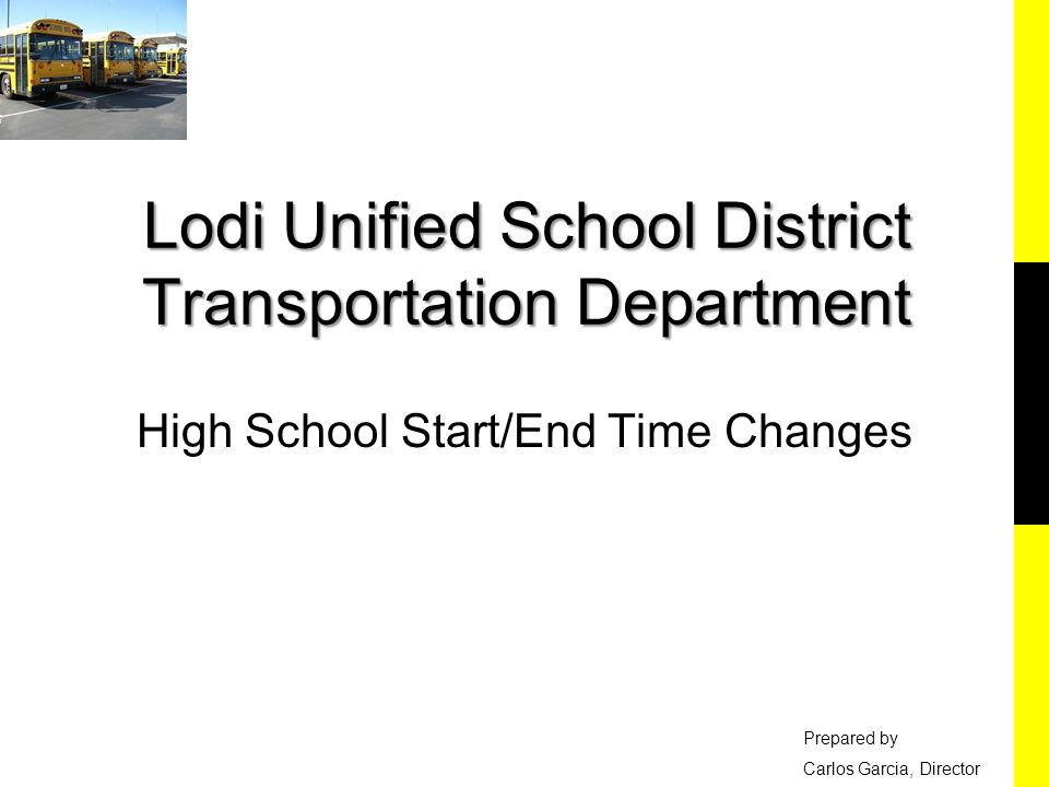 Lodi Unified School District Transportation Department Ppt Video
