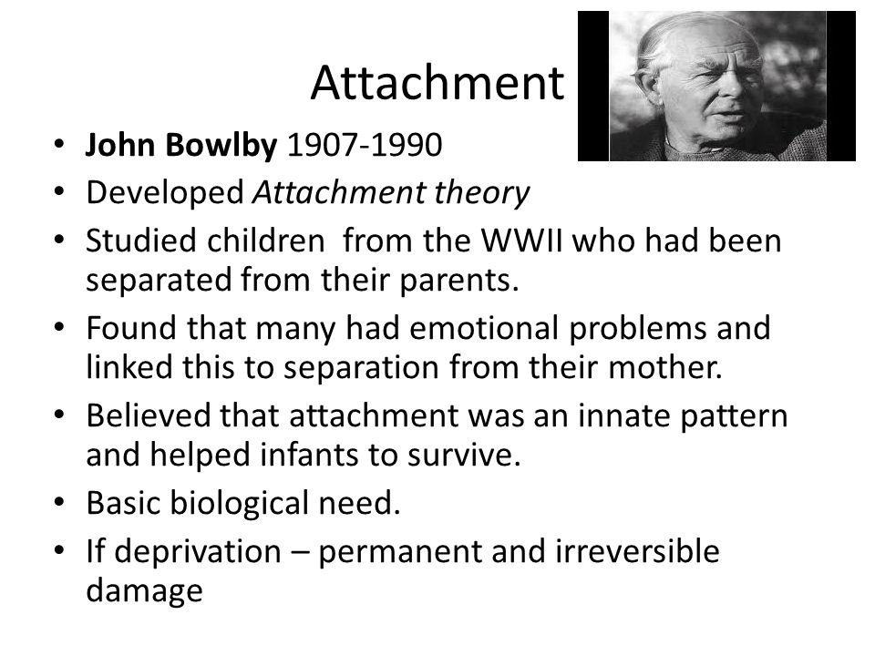 Attachment in children
