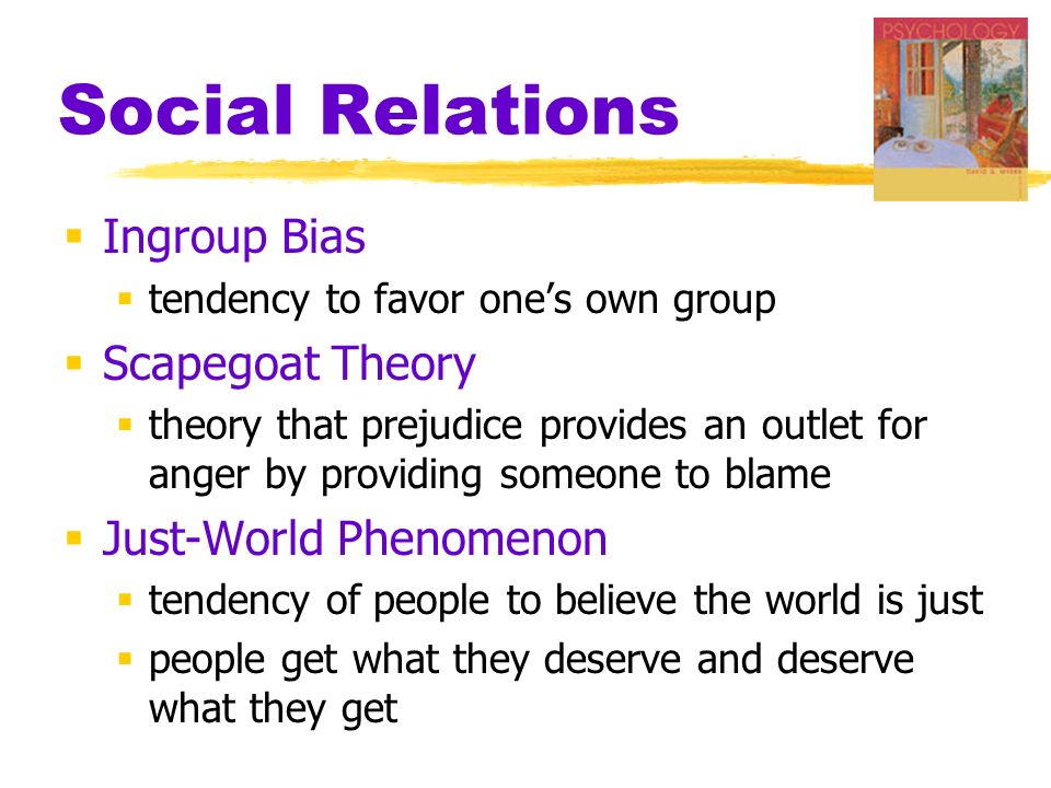 Myers psychology 7th ed ppt video online download for Relation sociale