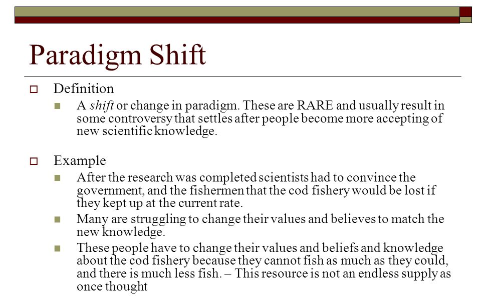 Paradigm shift definition