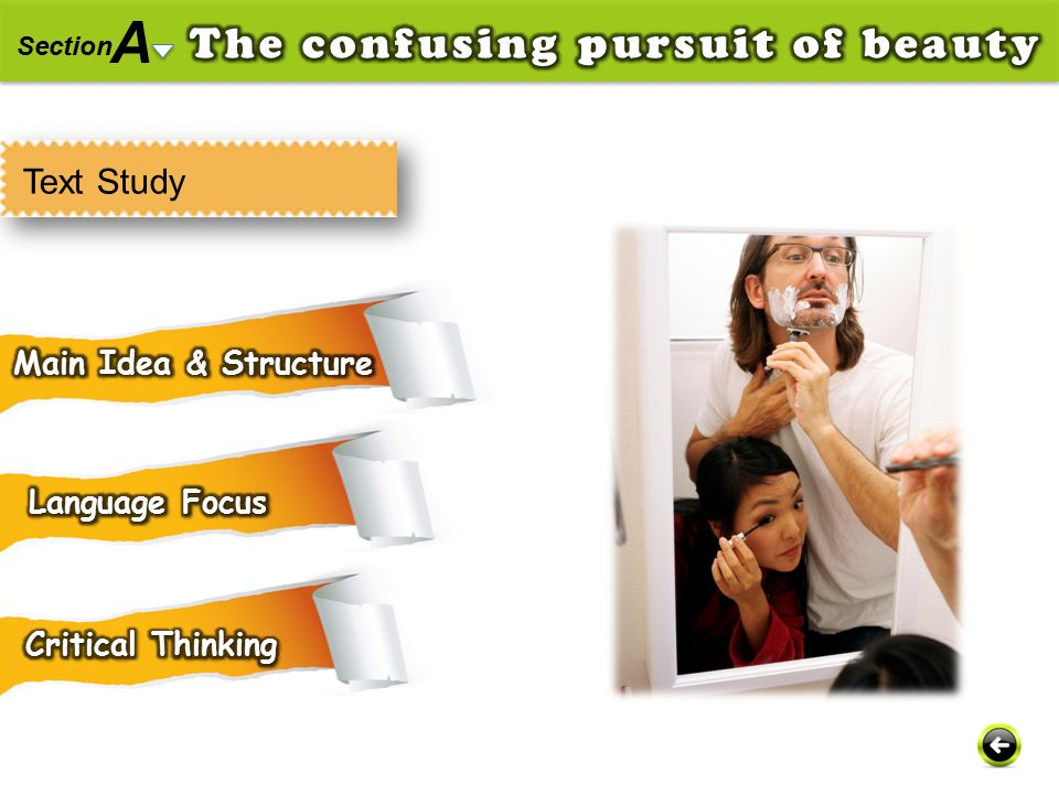 A The confusing pursuit of beauty Text Study Main Idea & Structure