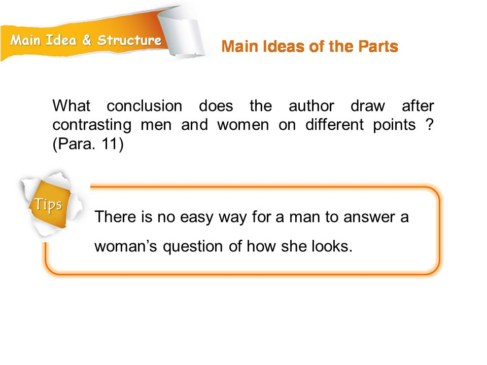 What conclusion does the author draw after contrasting men and women on different points (Para. 11)