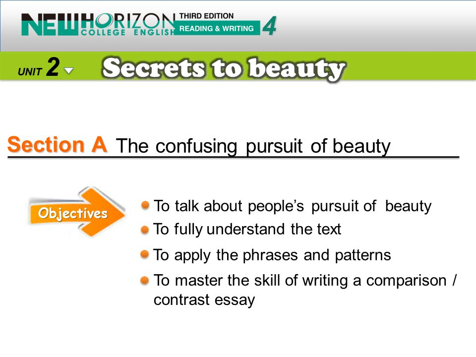 Section A Secrets to beauty 4 2 The confusing pursuit of beauty