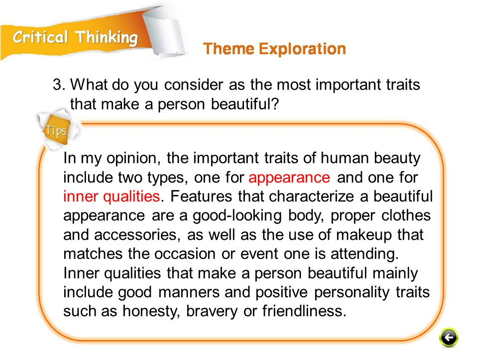 3. What do you consider as the most important traits