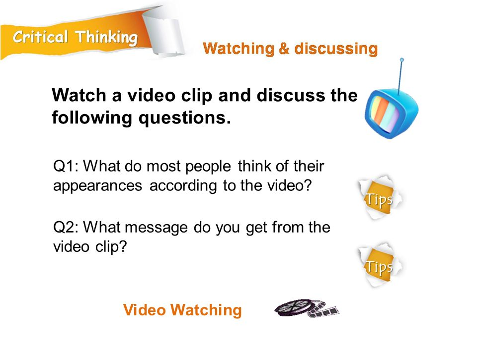 Watch a video clip and discuss the following questions.