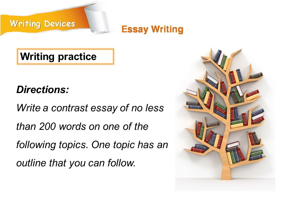 Writing practice Directions: