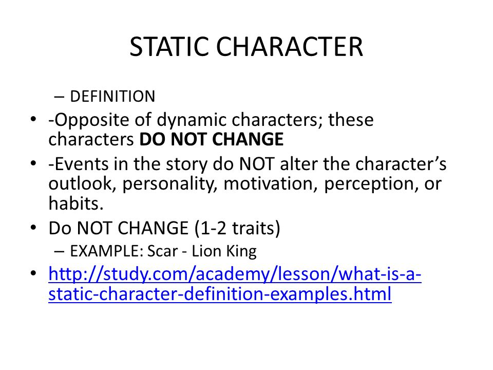 Dynamic Character Design Definition : Learning standard vocabulary quarter ppt download