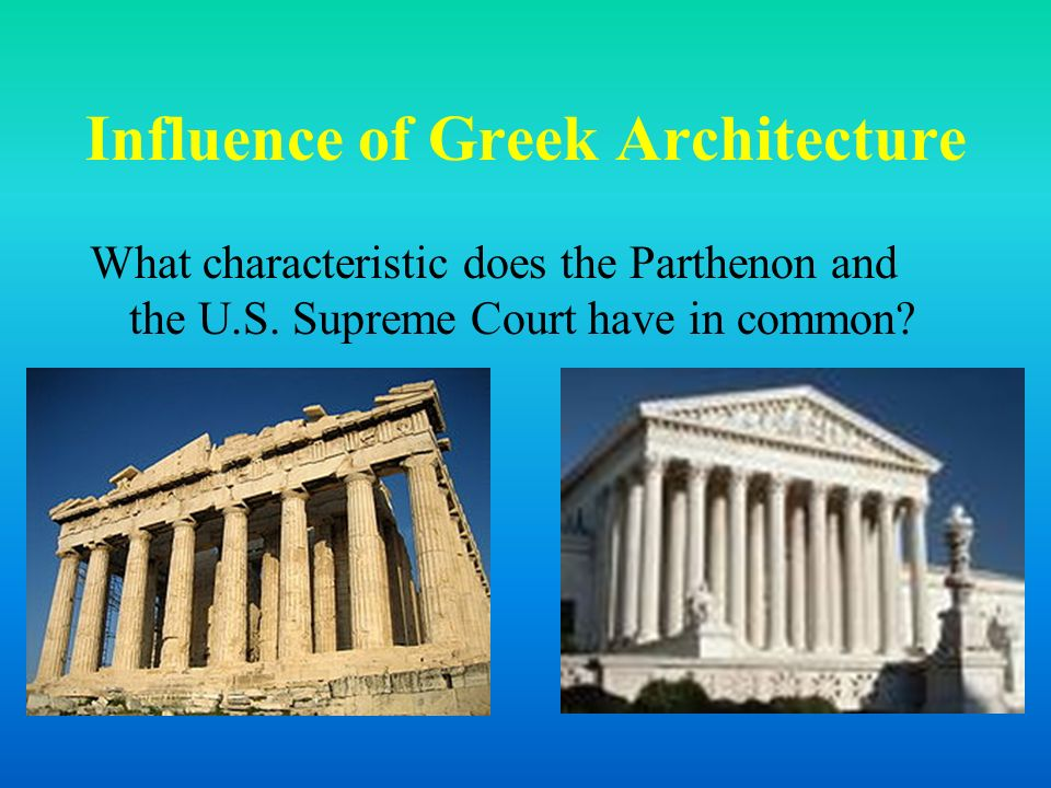 greek influence in western culture Ancient greece is generally considered to be a time in history of prosperity and true development of great civilization philosophical and learned men were composed in the time of ancient greece, setting beliefs and systematic ways of thought which can still be used in modern society.