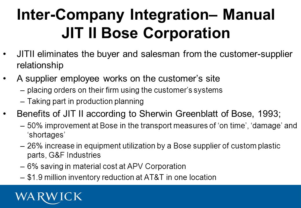 Bose Corporation: JIT II Case Solution And Analysis, HBR ...