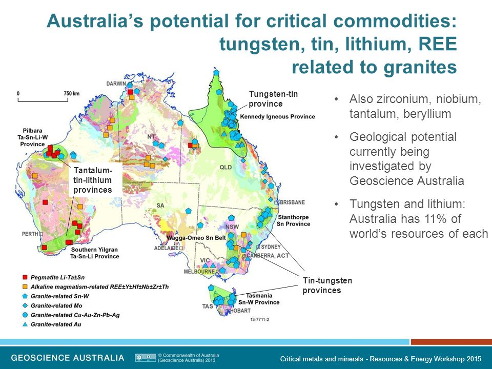 Critical metals and minerals an australian perspective ppt australias potential for critical commodities tungsten tin lithium ree related to granites publicscrutiny Image collections