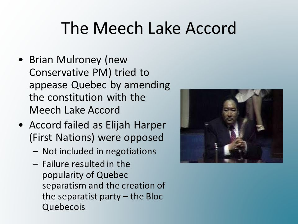 an analysis of the meech lake accord in quebec canada Unlike most editing & proofreading services, we edit for everything: grammar, spelling, punctuation, idea flow, sentence structure, & more get started now.