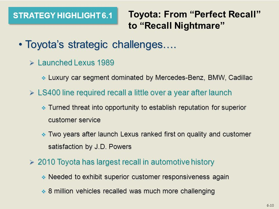 toyota cost leadership strategy 裴伟捷 strategic management 201228207 toyota's strategy toyota's best-cost producer strategy for its lexus line toyota has achieved low-cost leadership status because it has developed considerable skills in efficient supply chain management and low-cost assembly capabilities and because its models are so.