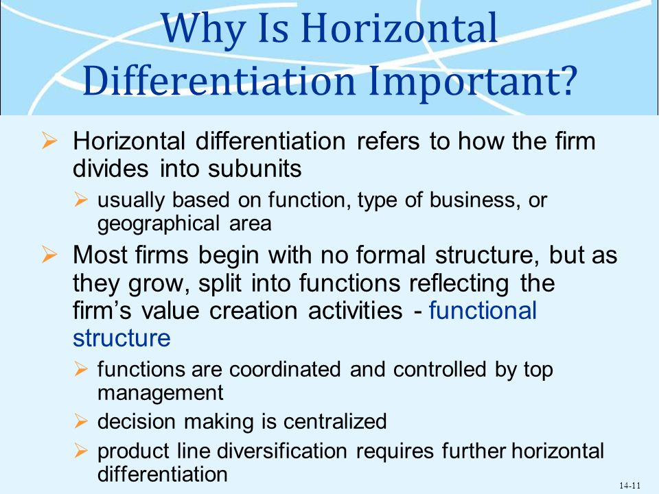 the importance of successful horizontal management for an organization Emergency management organization it also is important to understand the horizontal and attached and find organizations they expect to be successful in.