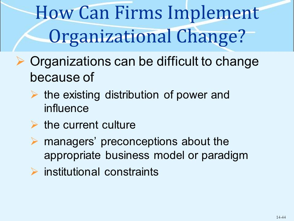 how to implement organizational change essay Organizational leadership assignment: implementing change face from stakeholders when implementing change within an organization in the essay business 517.