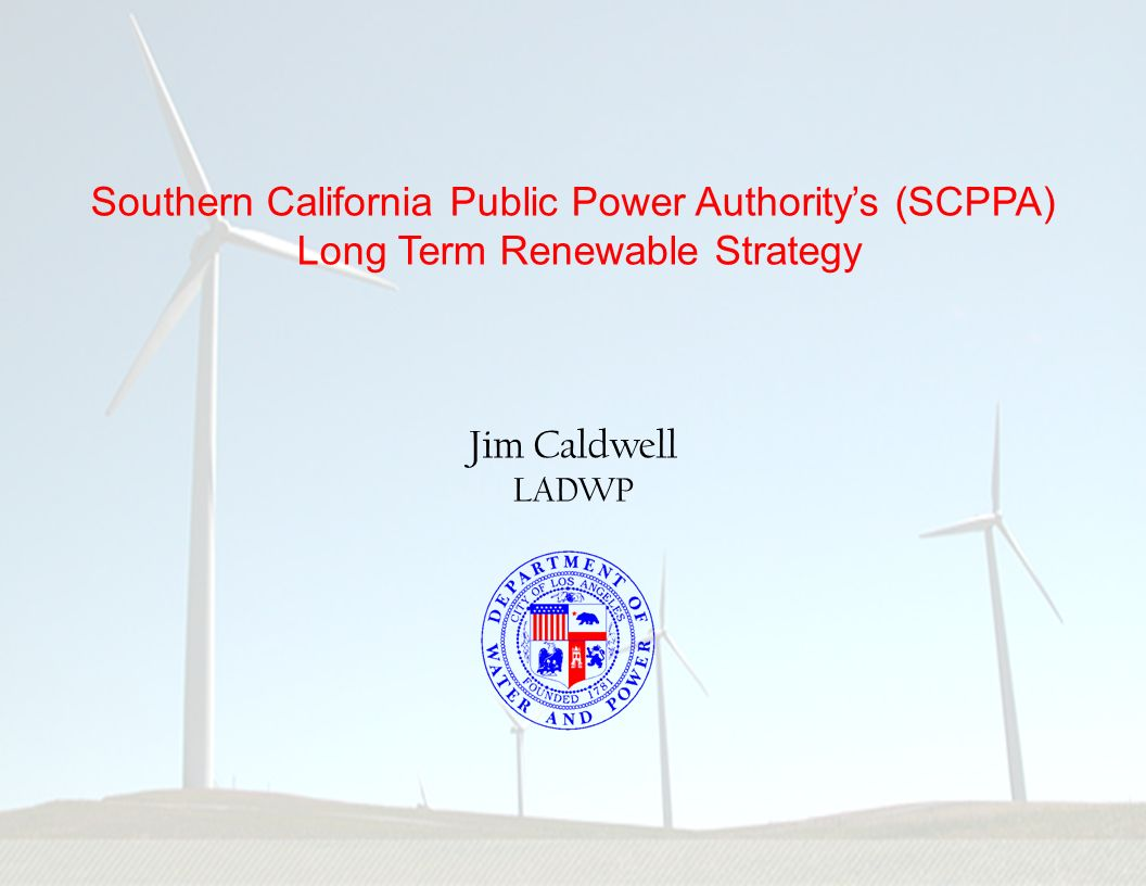Southern California Public Power Authority's (SCPPA)