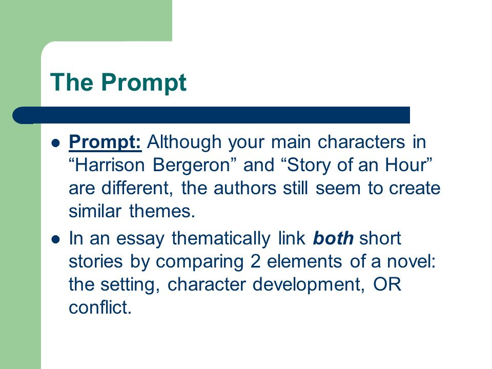 "the prompt prompt although your main characters in ""harrison  1 the"