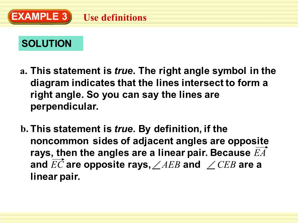EXAMPLE 1 Rewrite a statement in if-then form - ppt download