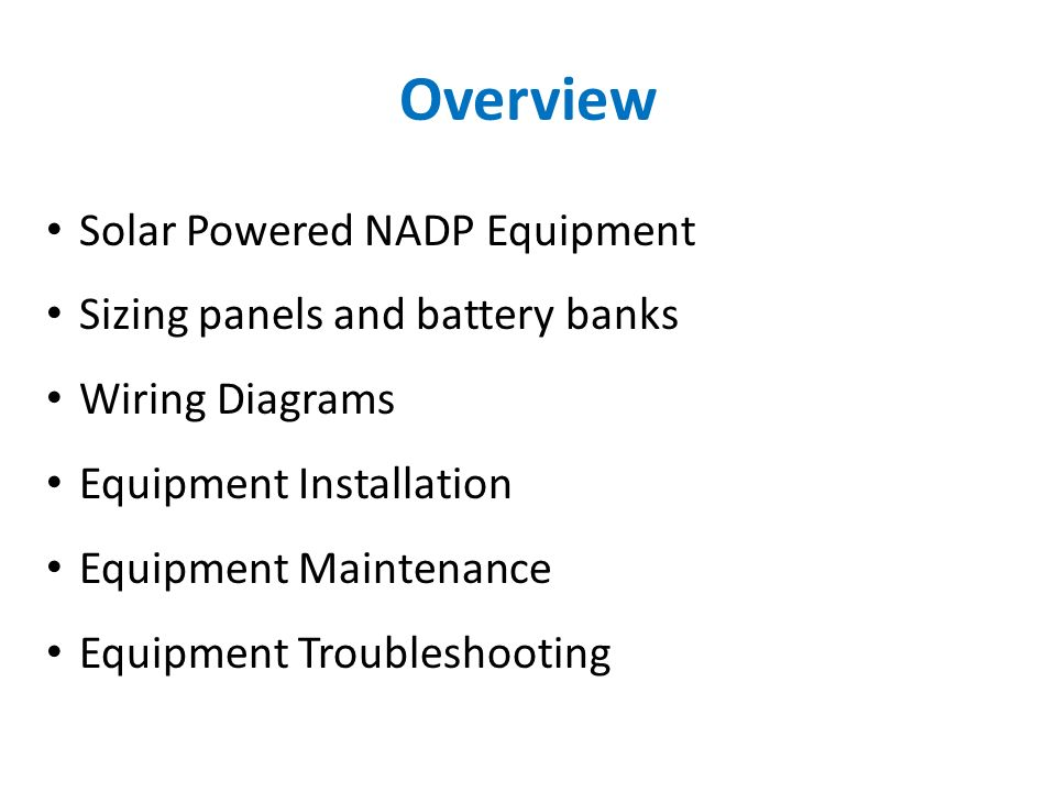 Overview+Solar+Powered+NADP+Equipment+Sizing+panels+and+battery+banks everstart battery charger wiring diagram dolgular com everstart battery charger wiring diagram at reclaimingppi.co
