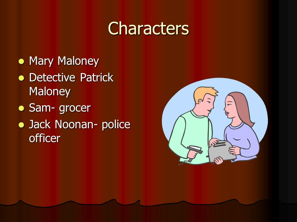 character analysis of mary maloney lamb In the short story lamb to the slaughter by roald dahl, mary maloney the protagonist is seen as the average house wife living, until she murders her husband, patrick maloney, a police officer with a frozen leg of lamb.