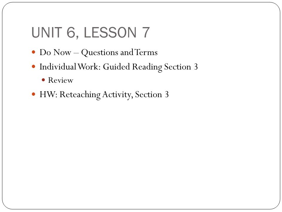 unit 6 questions The unit goals, focus questions, and mathematical reflections for each unit are contained in one document to assist with planning and teaching.