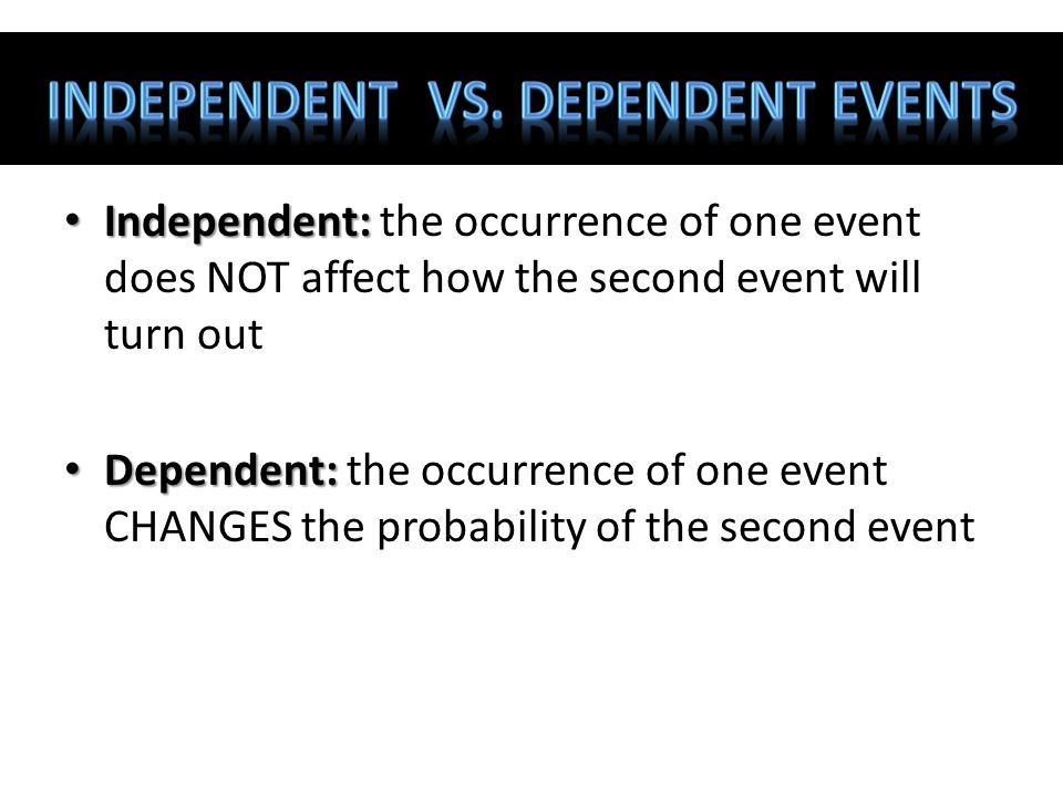 Probability of Multiple Events - ppt video online download