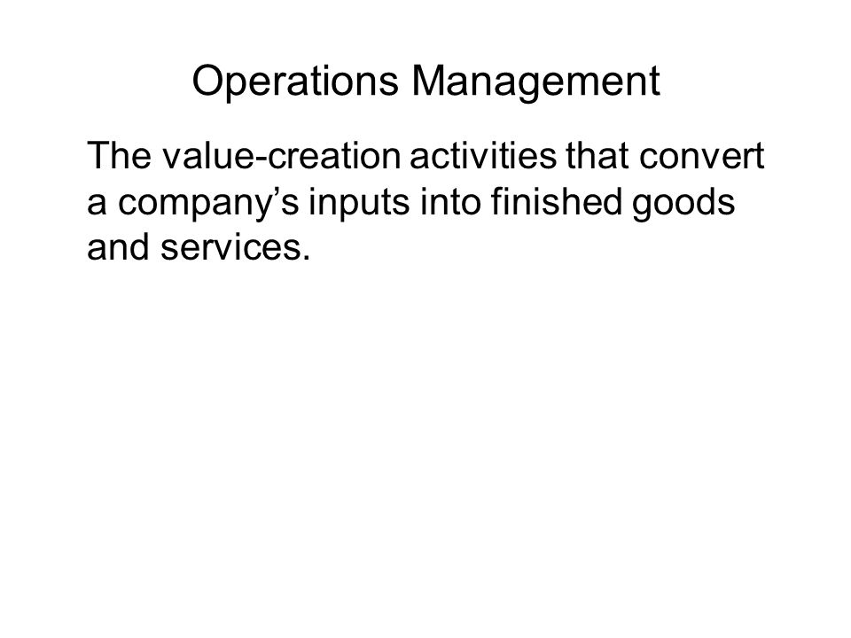 Activity 101 the operations manager for