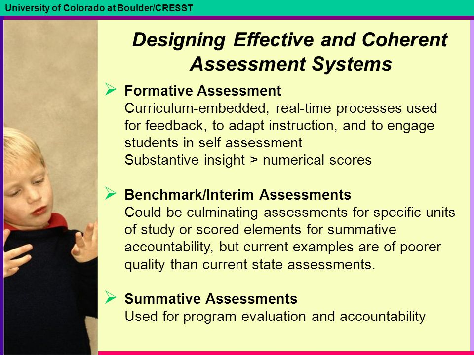 designing curriculum instruction and assessment for Translation of best practices in learning and assessment to effective curriculum  design is a major barrier in successful teaching creative approaches must be.