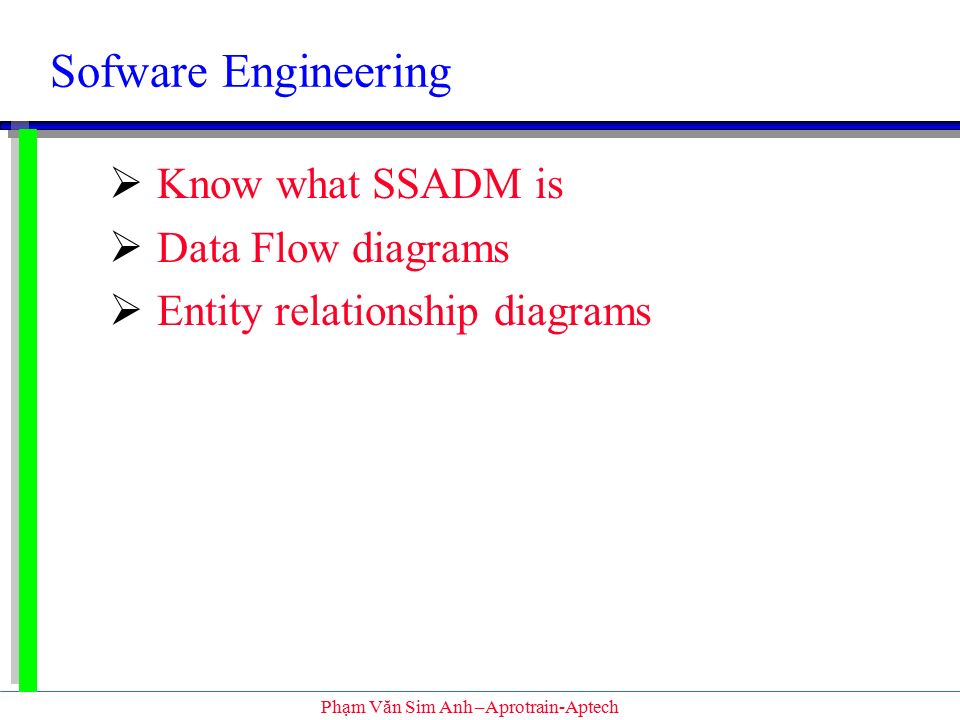 Sofware Engineering Know What Ssadm Is Data Flow Diagrams Ppt