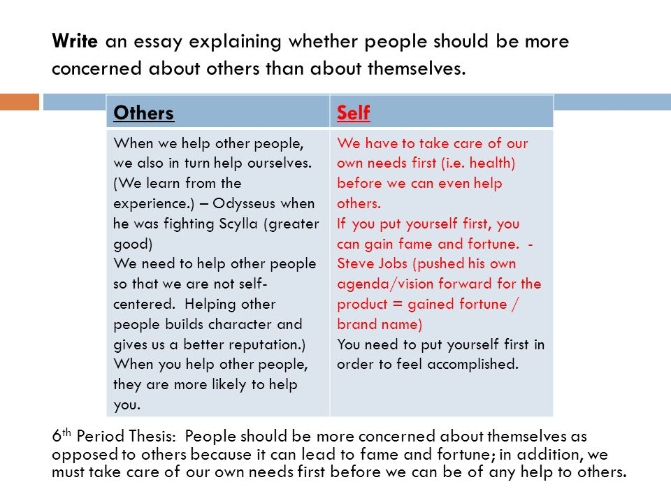 Service to others essay