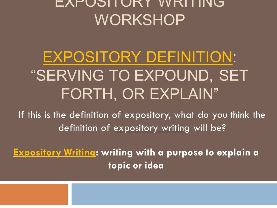 purpose of expository essays Expository writing assessment true or false 1 the purpose of expository  writing is to convince someone to agree with your viewpoint or cause true  false.